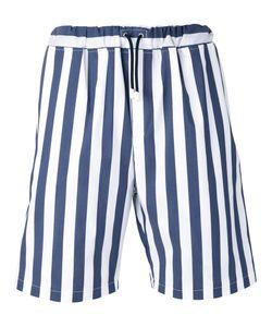 Lc23   Drawstring Striped Shorts M