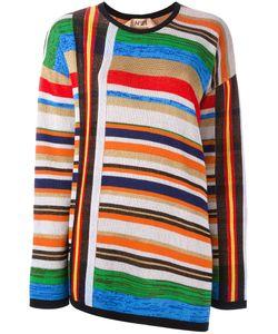 No21 | Open Back Striped Pullover
