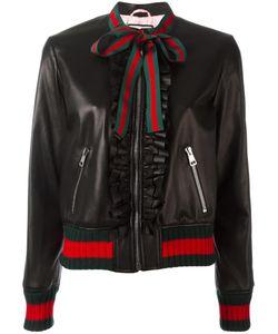 Gucci   Ruffle Bomber Jacket 42 Lamb Skin/Wool/Polyamide/Cotton