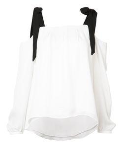 Nicole Miller   Tie Detail Blouse Size Xs