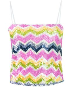 MISSONI VINTAGE | Zig Zag Sequinned Tank Top