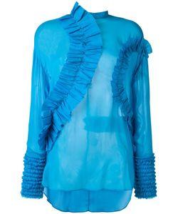 Cedric Charlier | Cédric Charlier Ruffled Panel Blouse 44 Silk