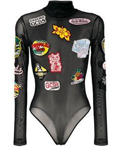 Gcds | Multi-Patches Sheer Bodysuit Xs