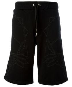 Les Hommes | Geometric Print Drawstring Shorts Size Small