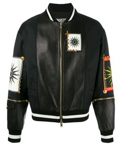 Fausto Puglisi | Multiple Patches Bomber Jacket Size 48 Polyamide/Lamb