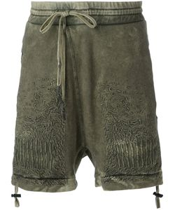 11 BY BORIS BIDJAN SABERI | Cold Dye Embroidered Shorts