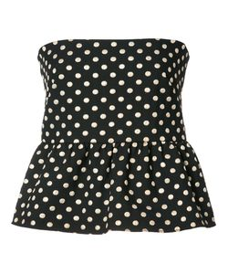 Nicole Miller | Polka Dot Top Medium Polyester/Nylon Fibre