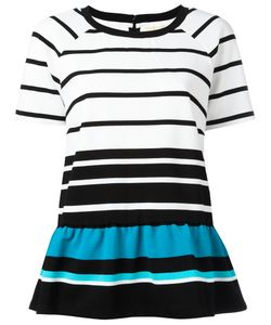 Michael Michael Kors | Striped Flared Hem T-Shirt Size Small