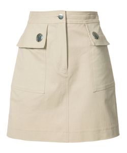 Adam Lippes | Pocketed Mini Skirt 0 Cotton