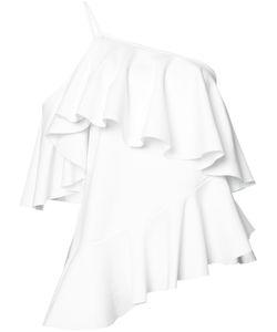Marques Almeida | Marquesalmeida Ruffled Asymmetric Top Medium Polyester/Polyamide