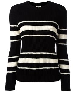 Chinti And Parker | Striped Ribbed Jumper Small Silk/Cotton