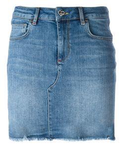 Twin-set | Raw Hem Denim Skirt Xs
