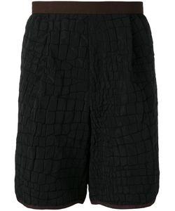 Kolor | Crocodile Embossed Effect Shorts Size