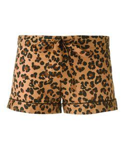 OTIS BATTERBEE | Leopard Print Pyjama Shorts Large Cotton