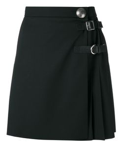 Alexander McQueen | Pleated Mini Skirt Silk/Calf Leather/Virgin