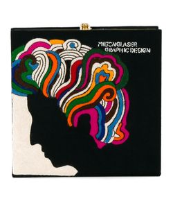 Olympia Le-Tan | Milton Glaser Book Clutch Wool/Metal