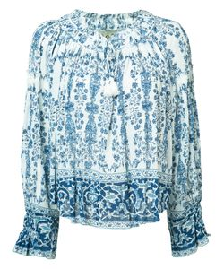 Sea | Printed Peasant Blouse Size 4