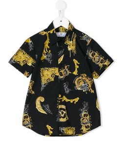 Young Versace | Baroque Print Shirt 11 Yrs