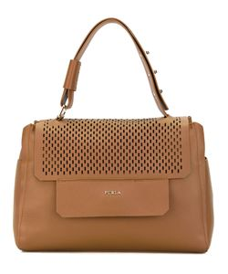 Furla | Perforated Flap Tote