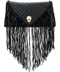 Thomas Wylde | Fringed Quilted Clutch Lamb Nubuck