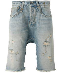 R13   Distressed Denim Shorts Size 29