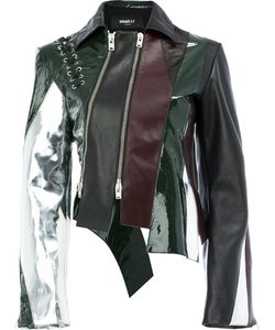 Yang Li | Panelled Leather Jacket