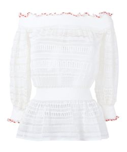 Alexander McQueen | Lace Knit Top Xs Silk/Cotton/Polyamide