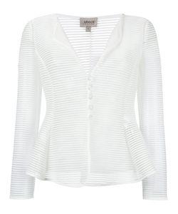 Armani Collezioni | Sheer Striped Jacket 48 Polyamide/Spandex/Elastane