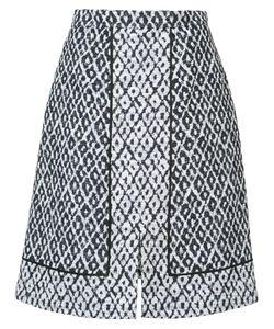 Oscar de la Renta | Ikat Print A-Line Skirt
