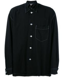 ISSEY MIYAKE VINTAGE | Contrast Stitch Trim Shirt Large