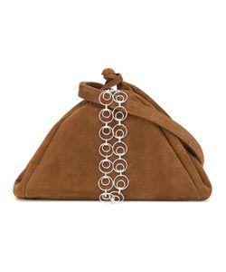Isa Arfen   Chain Detail Crossbody Bag Suede