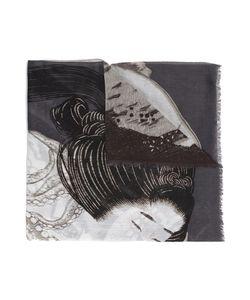 HOMME PLISSE ISSEY MIYAKE | Homme Plissé Issey Miyake Japanese Motif Scarf Cotton