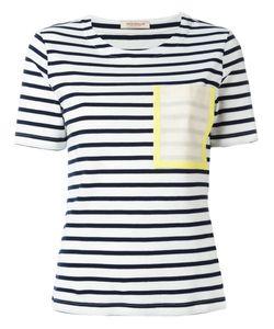 Erika Cavallini | Patch-Pocket Striped T-Shirt Size Medium