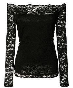 L'Agence | Off-Shoulder Lace Blouse Medium