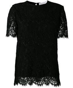 Victoria, Victoria Beckham | Victoria Victoria Beckham Lace Detail Top 12 Wool/Polyamide/Silk