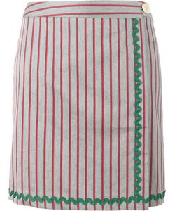 Jour/Né | Stripe Wrap Skirt 42 Cotton/Polyester/Rayon