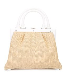PERRIN PARIS | Woven Tote Straw/Leather
