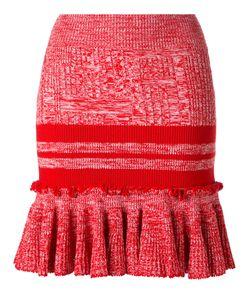 Alexander McQueen | Knitted Peplum Skirt Xs Wool/Silk/Polyamide/Spandex/Elastane