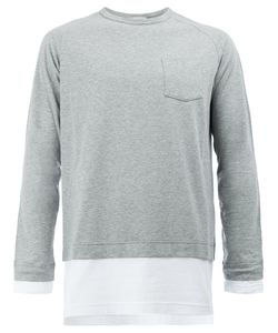 WOOSTER + LARDINI | Layer Effect Long Sleeve Top Size Medium