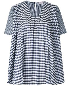 Dice Kayek | Gingham Pleated Blouse Size 38