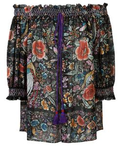 Roberto Cavalli | Print Off-Shoulder Blouse 40 Silk