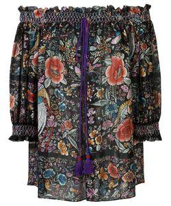 Roberto Cavalli | Блузка С Открытыми Плечами И Цветочным Узором