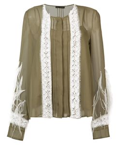 SALLY LAPOINTE | Pin-Tuck Embroidered Blouse