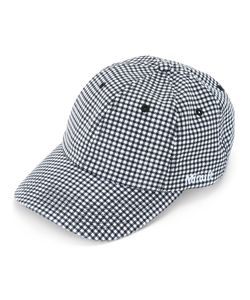 Futur | Logo Embroidered Gingham Cap