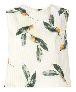 Cacharel | Pineapple Print Top 34 Cotton