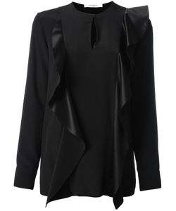 Givenchy | Ruffle Trim Blouse 38 Silk