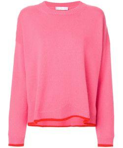 Giada Benincasa | Contrast Hem Round-Neck Sweater Women