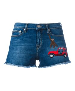 Mira Mikati | Embroidered Patch Denim Shorts Size 38