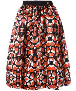 Cavalli Class | Patterned Pleated Skirt 38