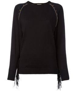 Laneus | Studded Trim Sweatshirt Size 40